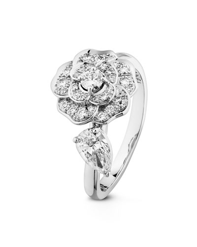 CAMELIA PRECIEUX Ring in 18K White Gold and Diamonds