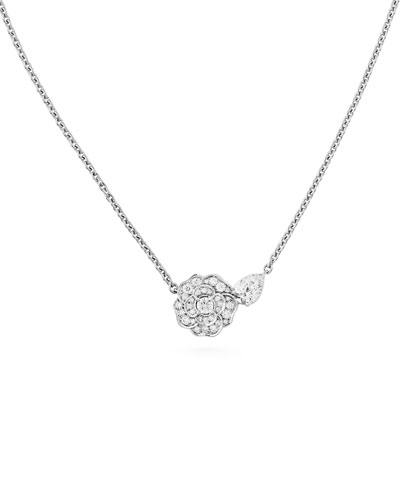 CAMELIA PRECIEUX Pendant Necklace in 18K White Gold and Diamonds