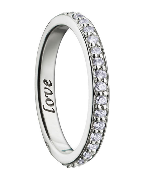 """18K Yellow, Rose and White Gold """"Thankful"""" Poesy Ring Necklace"""