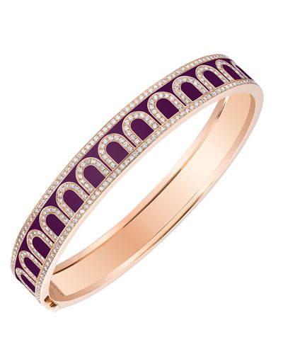 L'Arc de Davidor 18k Rose Gold Diamond Bangle - Med. Model  Aubergine