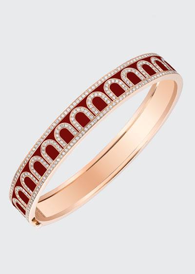 L'Arc de Davidor 18k Rose Gold Diamond Bangle - Med. Model  Bordeaux