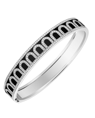 L'Arc de Davidor 18k White Gold Diamond Bangle - Med. Model  Caviar