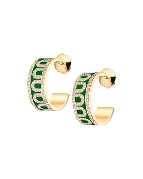 L'Arc de Davidor 18k Yellow Gold Diamond Hoop Earrings, Palais Royal