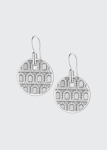 L'Arc de Davidor 18k White Gold Diamond Drop Earrings - Grand Model