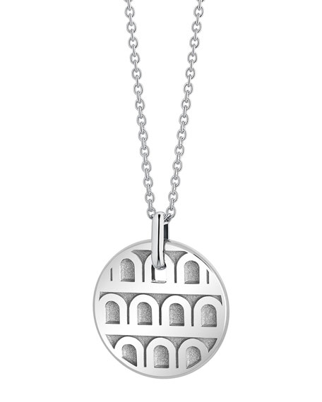 L'Arc de Davidor 18k White Gold Pendant Necklace - Petite Model