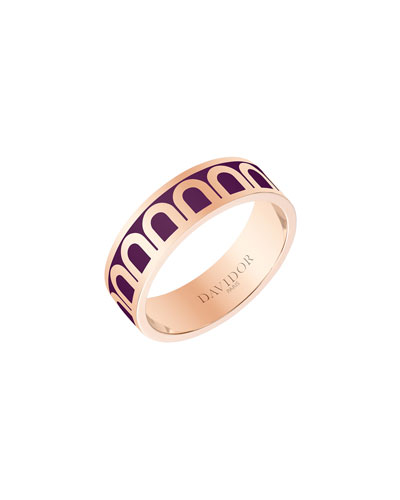 L'Arc de Davidor 18k Rose Gold Ring - Med. Model  Aubergine  Sz. 7.5
