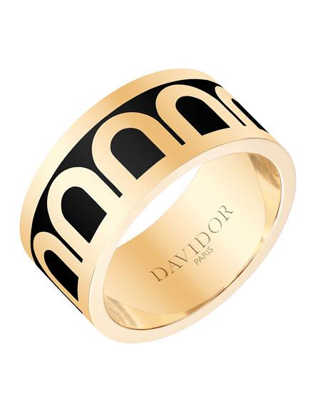 L'Arc de Davidor 18k Gold Ring - Grand Model, Caviar, Sz. 6.5