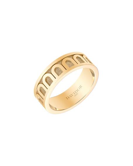 L'Arc de Davidor 18k Gold Ring - Med. Model, Sz. 7