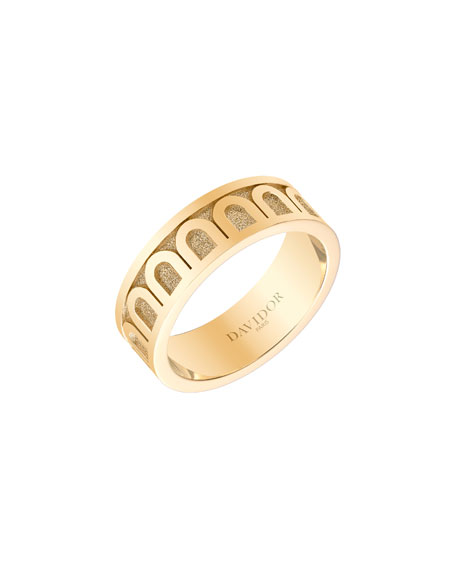 Image 1 of 1: L'Arc de Davidor 18k Gold Ring - Med. Model, Sz. 6.5