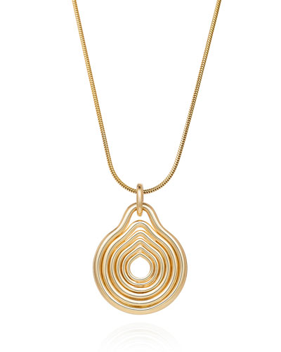 Rounded Lines 18k Gold Pendant