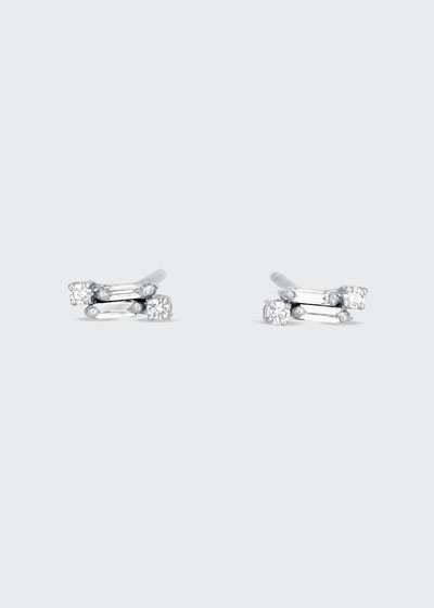 Classic 18k White Gold Diamond Stud Earrings