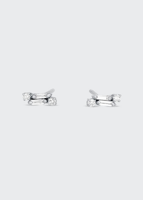 Classic 18k White Gold Diamond Stud Earrings