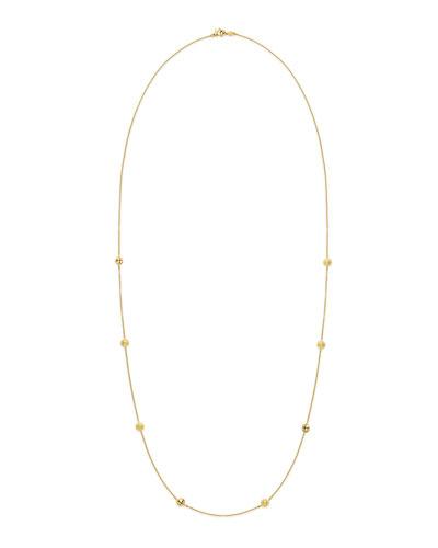 18k Gold Jingle Meditation Bell Necklace, 36