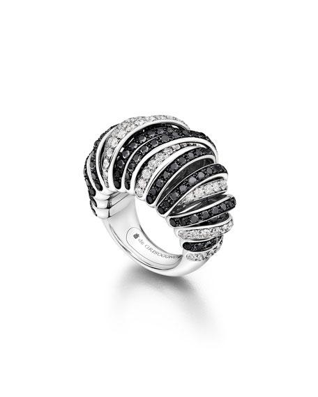 Allegra 18k White Gold Black & White Diamond Ring