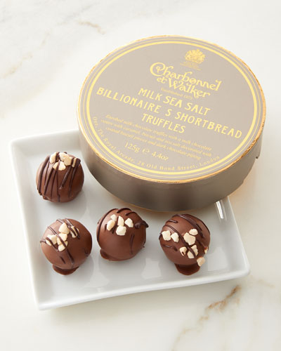 Milk Sea Salt Billionaire's Shortbread Truffles