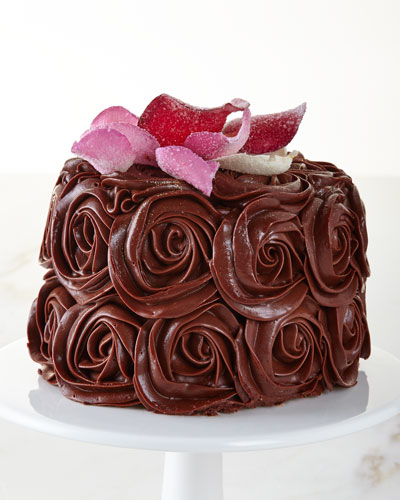 Chocolate Rose Cake  For 8-10 People