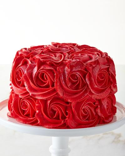 Red Velvet Rose Cake  For 8-10 People