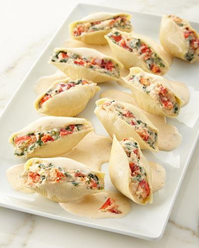 Lobster Stuffed Pasta Shells