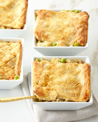Chicken Pot Pies  For 4 People