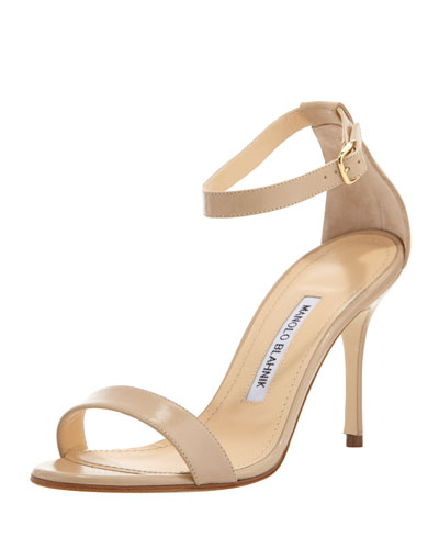 Chaos Leather Ankle-Strap Sandal