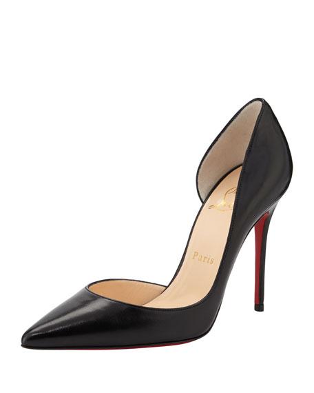 premium selection 98b07 cca5a Iriza Red-Sole Half-d'Orsay Pump Black