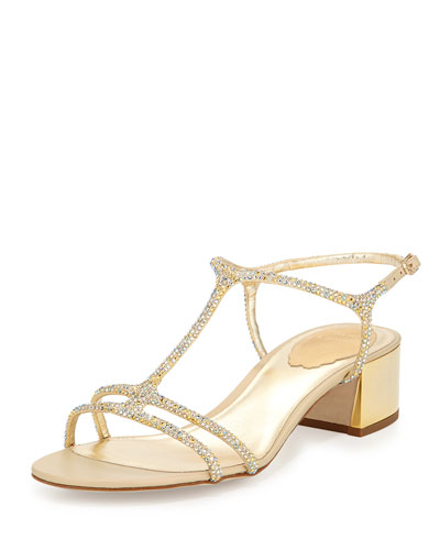 Crystal T-Strap City Sandal