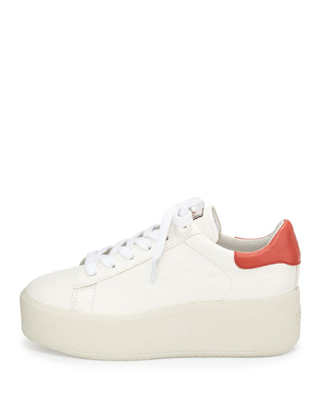 Cult Lace Up Platform Sneaker, White