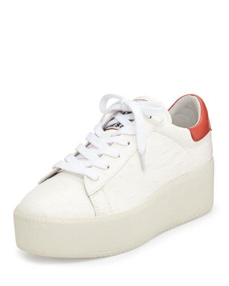 ash cult leather platform sneaker