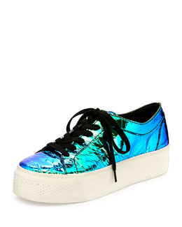 Miko Iridescent Flatform Sneaker