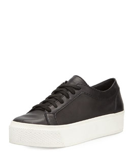 Flatform Leather Lace-Up Sneaker