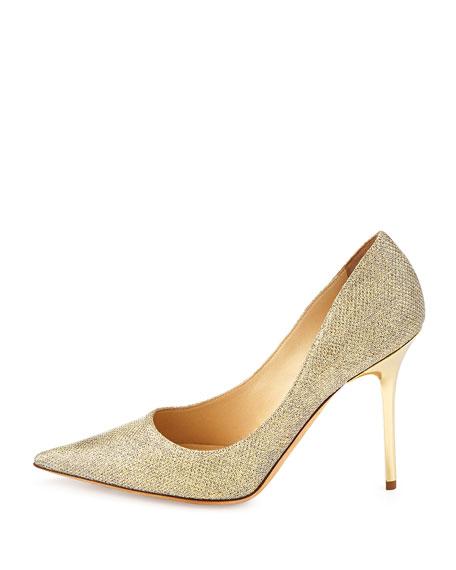 jimmy choo abel glitter point toe pump gold rh bergdorfgoodman com