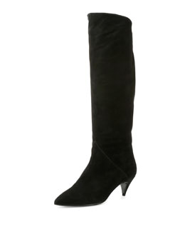 Cat Over-The-Knee Suede Boot