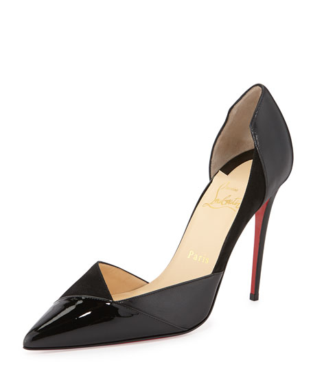 Tac Clac Patchwork Leather Half d'Orsay Red Sole Pump