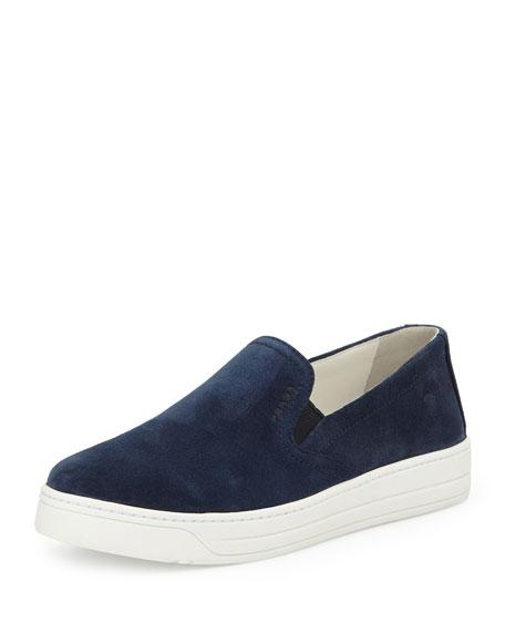 Prada Sport Suede Slip-On Sneakers pre order online 2014 online TEY9NrHaa
