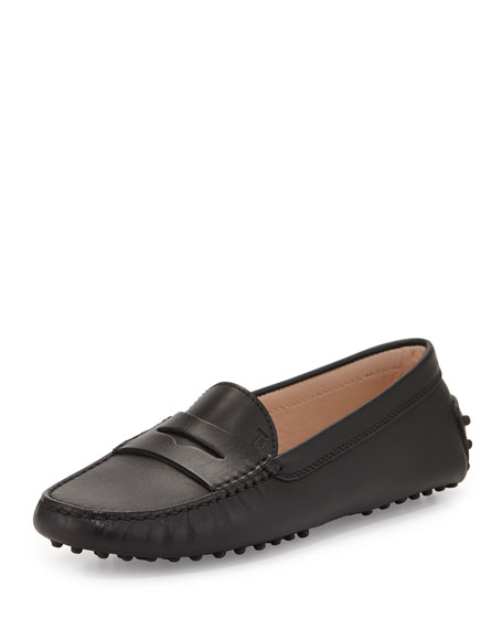 Tod's Gommini Smooth Leather Moccasin, Black