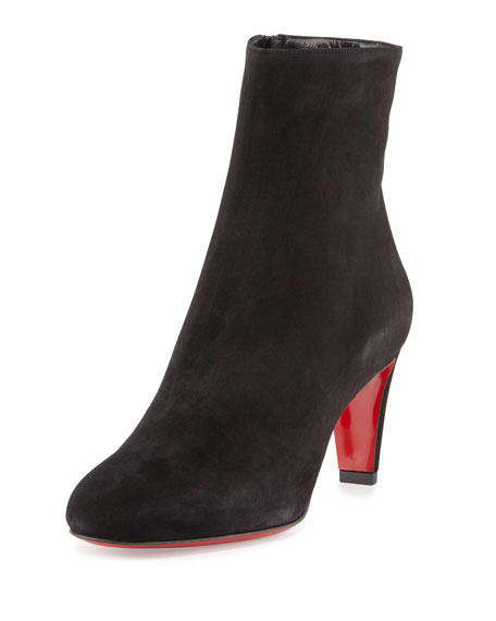 a81171bfde89 Christian Louboutin Top 70 Suede Red Sole Ankle Boot
