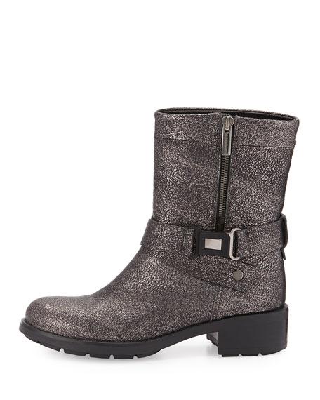 8550c5774fb9 Aquatalia Sami Metallic Crisscross Buckled Mid-Calf Boot