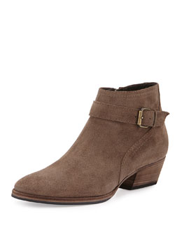 Fanny Suede Ankle Boot, Taupe