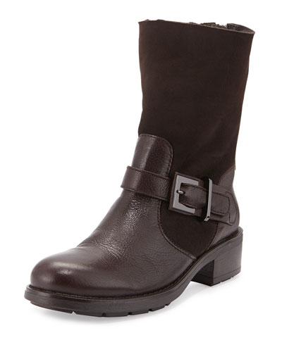 Sandra Shearling Fur & Leather Mid-Calf Boot