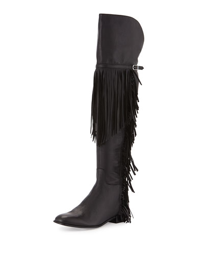 Effie Fringe Over-The-Knee Boot