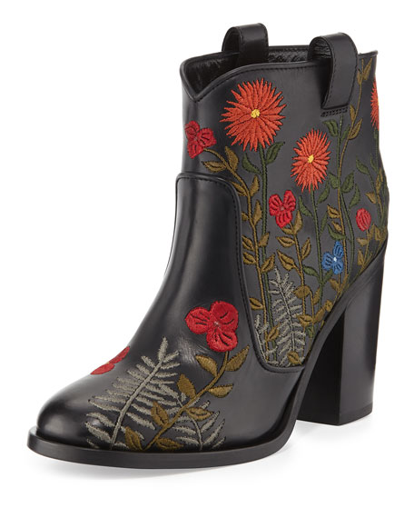 Sast Cheap Online Pre Order Sale Online LAURENCE DACADE Embroidered flower ankle boots lmlUXVZ