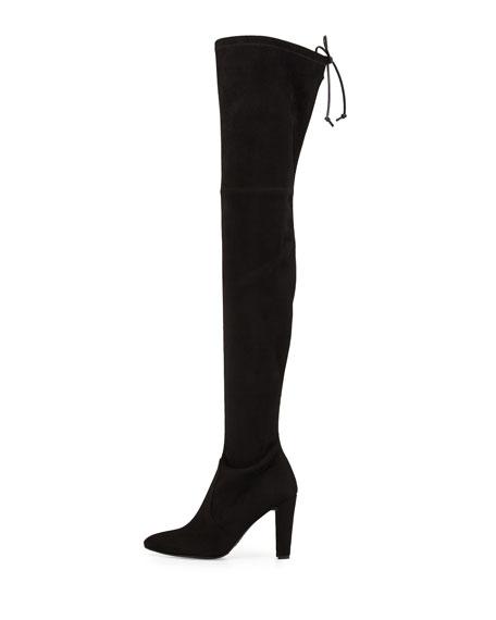 Alllegs Suede Over-the-Knee Boot, Noir
