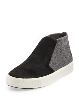 Beck-2 Calf-Hair Chukka Sneaker, Black/Ceramic