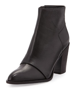 Ennis Leather Ankle Boot, Black