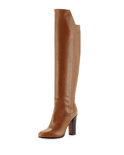 Dempsey Leather Over-the-Knee Boot, Rattan