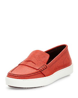 Colby Bicolor Saffiano Leather Sneaker