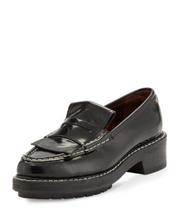 Anton Glossy Leather Loafer