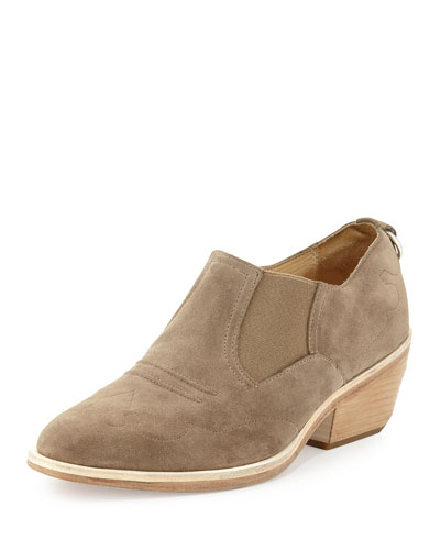 Finlay Suede Western Ankle Boot