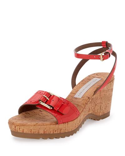 Linda Faux-Patent Cork Sandal