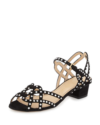 Joie de Vivre Studded City Sandal, Black